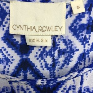 Cynthia Rowley Tops - Cynthia Rowley Geometric Print Silk Tank Top Small